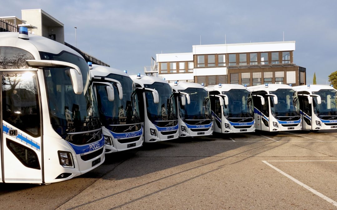Safety and comfort in focus when German Police have eight coaches delivered from Volvo